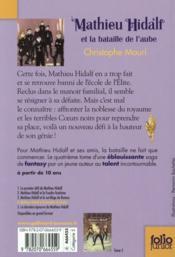 Mathieu Hidalf et la bataille de l'aube - 4ème de couverture - Format classique