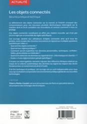 Les objets connectés ; sécurité juridique et technique - 4ème de couverture - Format classique