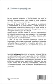 Droit douanier sénégalais - Couverture - Format classique