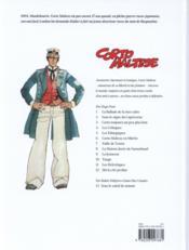 Corto Maltese T.9 ; la jeunesse - 4ème de couverture - Format classique
