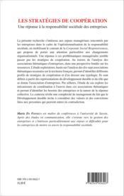 Stratégies de coopération ; une réponse à la responsabilité sociétale des entreprises - Couverture - Format classique