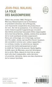 La folie des Bassompierre - 4ème de couverture - Format classique