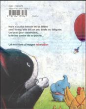 Au revoir Tétine ! - 4ème de couverture - Format classique