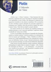 Plotin ; l'odyssée de l'âme - 4ème de couverture - Format classique