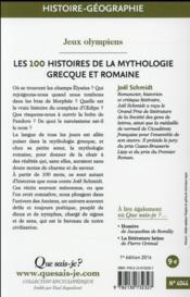Les 100 histoires de la mythologie grecque et romaine - 4ème de couverture - Format classique