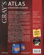 Gray's atlas anatomie humaine - 4ème de couverture - Format classique
