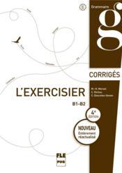 L'exercisier; corrigés des exercices - Couverture - Format classique