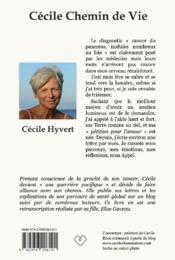 Cécile, chemin de Vie - 4ème de couverture - Format classique