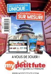 GUIDE PETIT FUTE ; CARNETS DE VOYAGE ; grand sud marocain - 4ème de couverture - Format classique