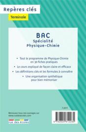 Repères clés bac ; spécialité physique-chimie - 4ème de couverture - Format classique