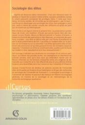 Sociologie des elites - Couverture - Format classique