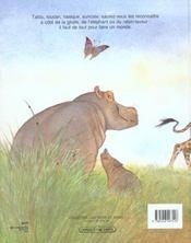 Un animal, des animaux - 4ème de couverture - Format classique