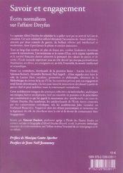 Savoir et engagement ; écrits normaliens sur l'affaire dreyfus - 4ème de couverture - Format classique