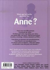 L'encyclopédie des prenoms t.21 ; anne - 4ème de couverture - Format classique