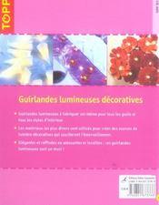 Guirlandes lumineuses décoratives - 4ème de couverture - Format classique