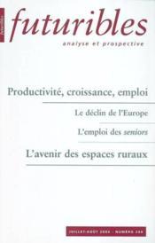 Productivite, croissance, emploi - Couverture - Format classique