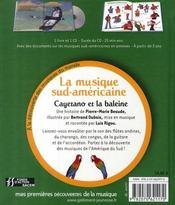 Cayetano et la baleine ; la musique sud-américaine - 4ème de couverture - Format classique