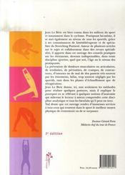 Stretching postural ; méthode et bienfaits - 4ème de couverture - Format classique