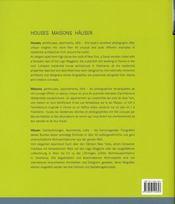 Houses maisons häuser - 4ème de couverture - Format classique
