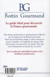 Bottin gourmand ; la sélection 2011 - 4ème de couverture - Format classique