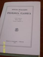Studi Italiani Di Filologia Classica, 1983 - Couverture - Format classique