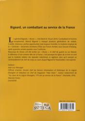 Bigeard ; un combattant au service de la France - 4ème de couverture - Format classique
