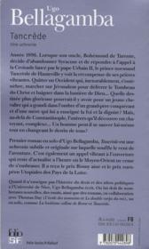 Tancrède - 4ème de couverture - Format classique