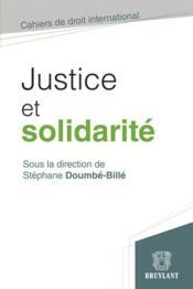 Justice et solidarité - Couverture - Format classique