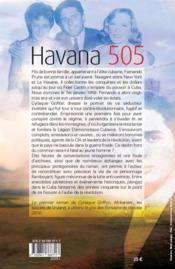 Havana 505 - 4ème de couverture - Format classique