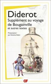 Supplément au voyage de bougainville et autres textes - Couverture - Format classique