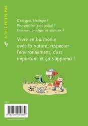 A TRES PETITS PAS ; l'écologie - 4ème de couverture - Format classique