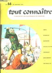 Tout Connaitre N° 66 Du 31 Janvier 1958. Jules Verne. - Couverture - Format classique