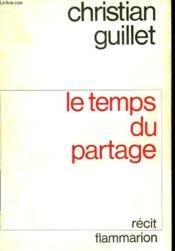 Le Temps Du Partage. - Couverture - Format classique