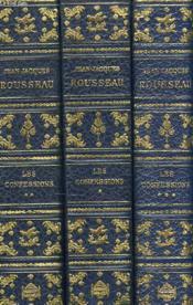 Les Confessions, Tomes I, Ii, Iii (Complet) - Couverture - Format classique