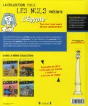 La Collection Pour Les Nuls Presente ; L'Egypte - 4ème de couverture - Format classique