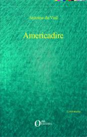 Americadire - Couverture - Format classique