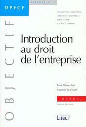 Introduction Au Droit De L'Entreprise 1999 - Intérieur - Format classique