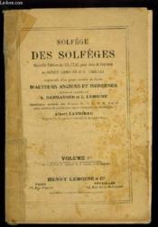 Solfege Des Solfeges - Volume 2 B - Lecons En Cle De Sol Et En Cle De Fa 4° Ligne, Changements De Cles Avec Les Deux Cles. - Couverture - Format classique