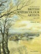 Britisn watercolour artists up to 1920 - vol 2 m/z - Couverture - Format classique