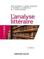 L'analyse littéraire (2e édition) - Couverture - Format classique