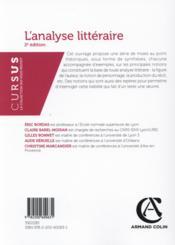 L'analyse littéraire (2e édition) - 4ème de couverture - Format classique
