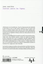 Stations (entre les lignes) - 4ème de couverture - Format classique