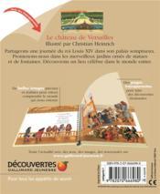Le château de Versailles - 4ème de couverture - Format classique