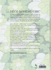 Déco bohème chic - 4ème de couverture - Format classique