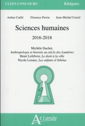 Khâgnes ; sciences humaines 2016-2017 - Couverture - Format classique