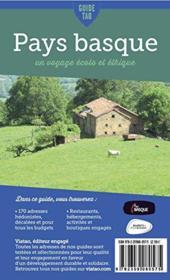 GUIDE TAO ; Pays basque ; un voyage écolo et éthique - 4ème de couverture - Format classique