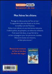 Les carnets de la cabane magique T.21 ; nos héros les chiens - 4ème de couverture - Format classique