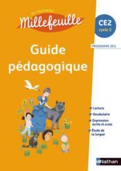 Nouveau millefeuille guide pedagogique ce2 2017 - Couverture - Format classique