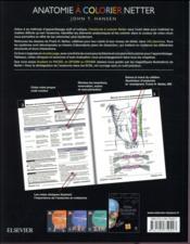 Anatomie à colorier Netter - 4ème de couverture - Format classique