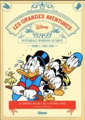 Les grandes aventures de Romano Scarpa ; INTEGRALE VOL.1 ; 1953/1956, le double secret du fantôme noir et autres histoires - Couverture - Format classique